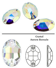 SWAROVSKI 3210 Sew On FlatBack OVAL Crystal AB  16x11 mm 2 pc