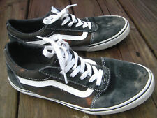 youth boys kids Vans skatebaord black canvas lowtop shoes size 7 Usa 39 euro