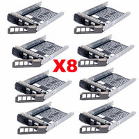 "Lot of 8, 3.5"" SAS SATA Hard Drive Tray Caddy For Dell PowerEdge R720 Hot-Swap"