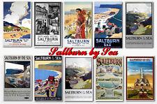 SALTBURN BY SEA - TRAVEL POSTER POSTCARD SET # 1