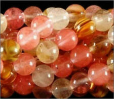 6MM 15inches Watermelon Tourmaline Gem Round Loose Bead A-