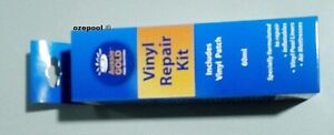 "Vinyl Swimming pool PATCH KIT ""wet"" or dry 130 inch², 2 fl. oz. adhesive,dauber"