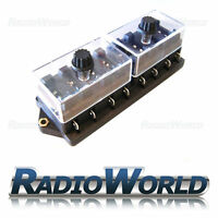 8 Way Circuit Standard / Mini Blade Fuse Box / Holder Universal With Cover