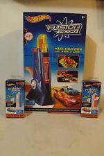 New Hot Wheels Fusion Factory Car Maker Play Set & 2 Color Refill Kits Blue Red
