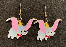 DUMBO Earrings Disney Stainless New Elephant Flying Lucky Feather