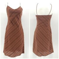Ralph Ralph Lauren Brown Sleeveless Slip Boho Dress Women's Size 2