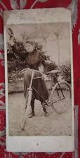 ancienne photo cycliste velo bicyclette vers 1900