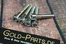 Zylinderschraube mit Innensechskant M6x40 CHROM verchromt M6 Schraube Sechskant
