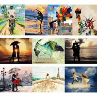 Frameless Paint by Numbers Kits DIY Canvas Oil Painting Craft Home Bedroom Decor