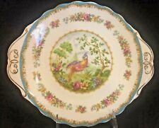 "ROYAL ALBERT Cake Plate CHELSEA BIRD - ENGLAND 9 3/4"" ca 1941"