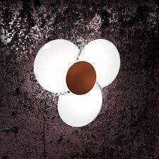 Applique in vetro bianco ruggine moderno a 3 luci tpl 1114/45-CO