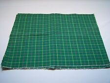 Vintage Plaid Print Remnant Sewing Arts & Crafts Fabric
