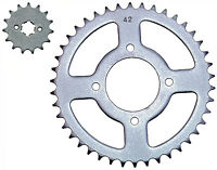 Suzuki RG125 Gamma I front & rear sprockets (85-91)15t front, 42t rear 428 pitch