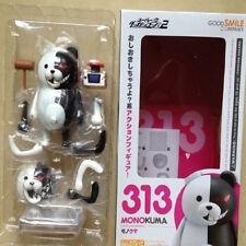 "Anime 10cm/4"" Danganronpa Monokuma #313 Nendoroid Series PVC Figure New in Box"
