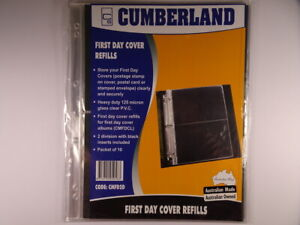 Cumberland First Day Cover Refills 2 Division Packet of 10 Pages