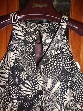 TORI RICHARD  Sundress NEW NWT Hawaiian SEXY Dress Black White CUT OUT 12 L