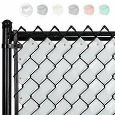 Chain Link Fence Privacy Tape Filler - White Green Brown Black