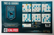2002/03 San Jose Sharks NHL Magnet Schedule