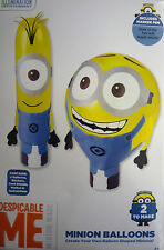 Haz tus propias Despicable Me Minion Globos (2 Globos, Stands, stickers, pluma)