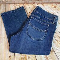 Gap LOW RISE CROPPED Womens Size 8 Blue Capri Jeans Denim Pants Stretch