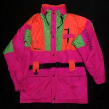 NEVICA Vintage Survival Ski Snowboard Jacket Neon Pink Retro 80s 90s Size 44 XL