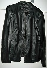 Style & Co. Women's Medium Black Leather Jacket--NEW