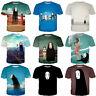 Women Men Anime Spirited Away No-Face Print Casual 3D T-Shirt Short Sleeve Tee
