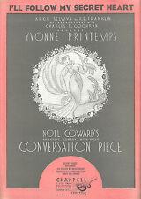 "Yvonne Printemps ""CONVERSATION PIECE"" Noel Coward 1934 Broadway Sheet Music"