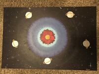 ANGELA GEORGE SIGNED EXHIBITED PAINTING SPACESCAPE ABSTRACT SURREALISM