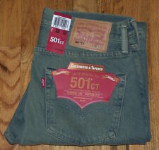 LEVIS LEVI'S 501 Ct Mens Button Fly Denim Jeans 32X32 $79.50 Green