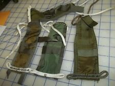 lot of 4 parachtue log book holders pouch pocket military issue nylon OD green