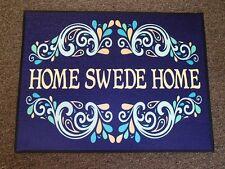 Scandinavian Swedish Home Swede Home Door Mat Rug - Blue #247R24