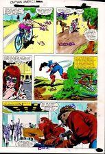 Original 1981 Captain America Marvel Comics color guide art page 28:1980's Colan
