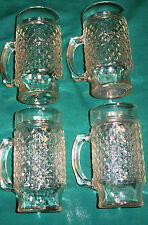 New listing Set of Four High Quality Glass Textured Mugs