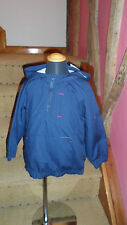 Boys 3-4 Year Navy Blue ¼ Zip Hooded Jacket in Poly Cotton Blend from Boots BNWT
