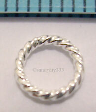 10x STERLING SILVER CLOSED TWIST ROUND JUMP RING JUMPRING 6mm 0.9mm 19ga #823
