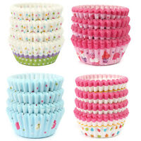 100 Pc Wedding Paper Cupcake Cases Wrapper Liner Baking Muffin Kitchen Party DIY