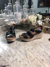 Womens Size 8.5 M Black CLARKS ARTISAN CLARENE PRIMA Wedge Comfort Sandals
