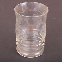 Clear Glass Grape Vine Pattern Drinking Glass Tumbler