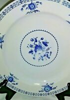2 Farberware Rego Park Stoneware Dinner Plate- Blue Floral /White- Discontinued