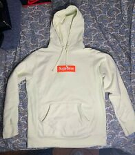 Supreme Box Logo Hooded Sweatshirt (FW17) Pale Lime Size M Medium