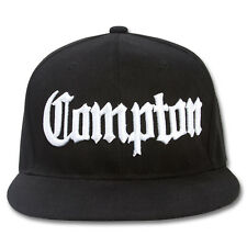 AF Snaps Compton City Snapback Hat Cap - All Black