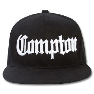 AF Snaps Compton City Snapback Hat Cap - Black
