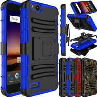 For ZTE Tempo X N9137/Blade Vantage Phone Case Hybrid Clip Hard TPU Armor Cover