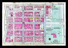 1921 Bromley New York City Map Highbridge Park Fort Washington Broadway 181st