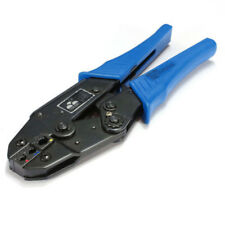 90'' AWG22-10 Double Crimp Insulated Terminals Plier Ratcheting Crimper Tool Kit