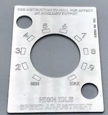 Lincoln Arc Welder High Idle S-25821 Remote Engraved Aluminum Control Plate