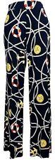 LAUREN.RALPH LAUREN Nautical Anchor-print WIDE LEG PANTS, Size PL, New with tag