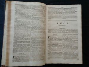 Holy Bible c1833 - Leather Bound - Nearly 200 Years Old