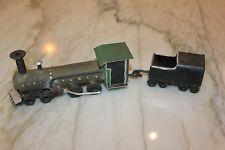Vtg Primitive Rustic Handmade Folk TRAMP ART Train Locomotive Engine Caboose